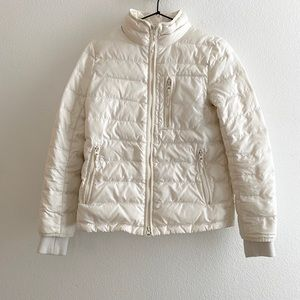 J. Crew Lightweight Down Puffer Jacket in Ivory